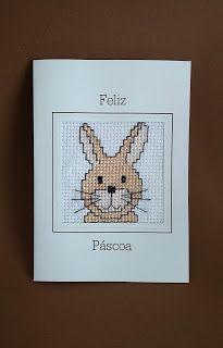 Cartão de Páscoa bordado à mão do Pinto e Bordo. Contato: design.roberta@gmail.com