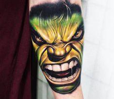 The Incredible Hulk tattoo by Khail Tattooer