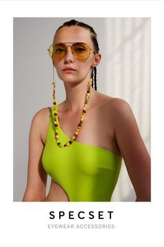 Gold Snake Chain for Glasses featuring multicolor Fruits   Wear it also as a Face Mask Holder   SPECSET #sunglassesfashion #sunglasses #style #eyewear #trending #beachstyle #summerstyle #goldjewelry #eyeglassholder #eyeglasses #glasses #fashionstyle #womenjewelry #specset #giftforher Trending Sunglasses, Sunglasses Women, Summer Accessories, Beach Look, Eyewear, Colorful Fruit, Classy, Gold, How To Wear