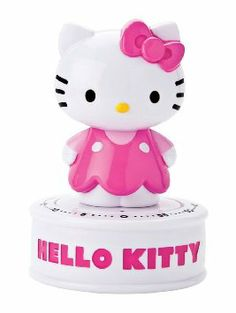 Hello Kitty Wind Up 60 Minute Kitchen Timer-3.5""