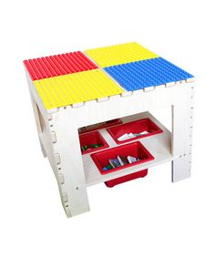 This charming table is the perfect addition to any playroom for any budding builder. It's topped with a DUPLO-compatible surface, making it a great foundation for their latest edifices.