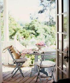 Balcón, jardín