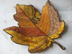 Maple leaf fabric bowl rust browns and gold by fashionedforyouinnh, $15.00 GET for Niki