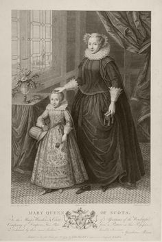 ❤ - Mary Queen of Scots and James I - 1779. Francesco Bartolozzi. After Federico Zuccaro.