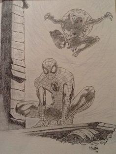 Homem Aranha em grafite!