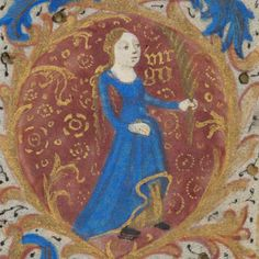 Zodiac sign of Virgo in a 15th century manuscript by e-codices, via http://positivelyastrology.com/category/virgo-2014-yearly/