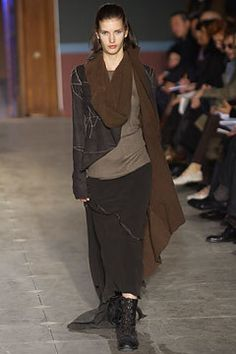 Rick Owens Fall 2003 Ready-to-Wear Fashion Show - Rick Owens, Diana Dondoe