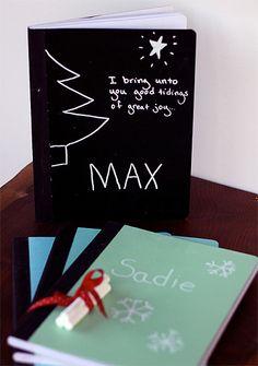 Cuadernos personalizados. Manualidades originales para regalar en Navidad