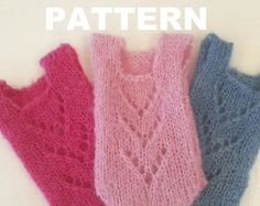 Knit a lacy front baby romper . Quick and easy , Lots of photographs!  Knitting Pattern