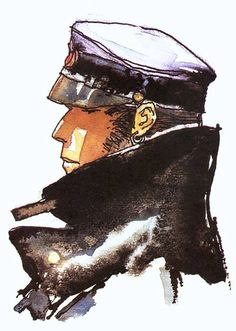 Corto Maltes Hugo Pratt #watercolorSven - L'homme des Caraïbes (1976). La mancumba del gringo / (1977). Al oeste del Edén /  (1978). Jesuita Joe /  (1980-84). Sogno di una Biennale di fine Estate (1982). Verano indio / dibujos: Milo Manara (1983). Cato Zulú (1984-88). George e Arabella (1986). El gaucho, dibujos: Milo Manara (1991). Baldwin 622 (1992). Un cuore garibaldino (1992).  un cielo lejano (1993). El último vuelo / (1994). Morgan (1995). Uomini a sei zampe (1996, inconcluso).