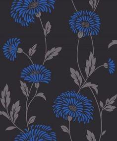 005 Floral Print | Blue