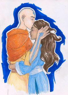 Aang and Korra by burdge-bug on deviantart