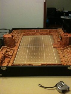 Custom Blood Bowl pitch in a case