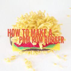 Click to Read Our Blog Post about How to Make a Pom Pom Burger | Pom Pom Decor | Yarn Creations | Pop Shop America