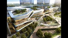 10 Design - Chengdu Mixed Use Development Shopping Mall Architecture, Retail Architecture, Green Architecture, Commercial Architecture, Concept Architecture, Futuristic Architecture, Amazing Architecture, Mix Use Building, Building Design