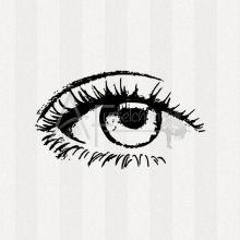 Motivstempel - Auge 01