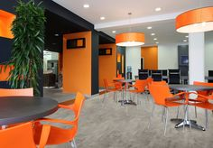 Decorating a large-scale corporate office is a lucrative interior decorating job! Read on for the key considerations when decorating a corporate space. Lobby Interior, Interior Photo, Office Interior Design, Office Interiors, Interior Decorating, Recessed Downlights, Interior Color Schemes, Corporate, Home Staging