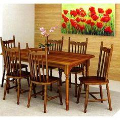 Sala de Jantar Gramado 1,60 x 90 - ( 06 Cadeiras ) - Madeira Maciça - Flávio Móveis Gramado -  com as melhores condições você encontra no site do Magazine Luiza. Confira!