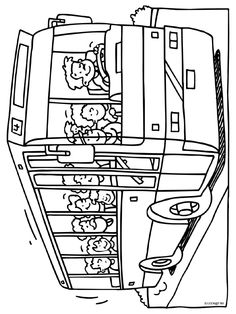 buschauffeur kleurplaten.nl Colouring Pages, Coloring Pages For Kids, Coloring Books, Craft Projects For Kids, Projects To Try, Kids Learning Activities, Teaching Math, Drawing Sketches, Community Helpers