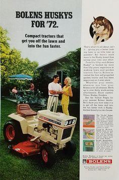 1972 Bolens Rear Engine Tractor   Refrigerator Magnet