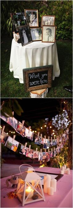 Geschenk Hochzeit – 30 Wedding Photo Display Ideas You'll Want To Try Immediately / www. Trendy Wedding, Our Wedding, Dream Wedding, Godly Wedding, Relaxed Wedding, Wedding Signs, Wedding Goals, Wedding Planning, Wedding Table