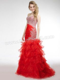 Mermaid-style Floor-length Shirring Sweat-heart Party Dress with Rhinestones