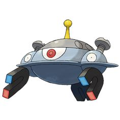 Magnezone: Magnezone is the result of Magneton leveling up in the presence of a special magnetic field. The evolution is done on a molecular level, but despite this, scientists have failed at attempts to force it. Magnezone's body is wide and circular, similar to a disc or saucer, with a thin edge circling the diameter of its body. Its main eye is in the center, containing a large, red pupil. On each side of its body, it has a ball shaped addition, with each side containing an eye, horseshoe…