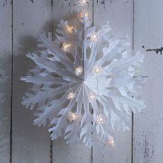 Giant paper snowflake