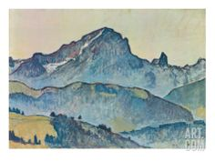 Le Grand Muveran (Berner Alpen), 1912' par Ferdinand Hodler