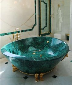 Malachite Bathroom by Baldi Home Jewels.
