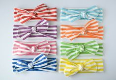Knotted Headwraps - Stripes Collection from jennifer ann