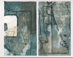 Homeward - Collograph Print with Chine Colle - Edition of 1