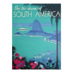 Vea Suramérica imprimir Póster