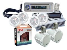 Save $ 423.89 order now Pyle KTMRA8SP Complete Marine Water Proof 6 Speaker CD/U