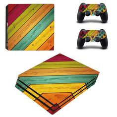 Skin Ps4 Slim Wooden Wood Design Limited Edition Decals Cover Gamesmonkey Faceplates, Decals & Stickers