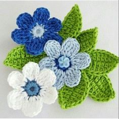 Crochet a 5 Petal Flower - Wendy Schultz via Sharin Ware onto Crochet.For Beginners Tig Isi Cicek Motif Picture Narration Newcomer … - The GardenersFive petal flower. Treble crochet, single stitch and foundation chain Crochet Leaves, Crochet Motifs, Knitted Flowers, Crochet Flower Patterns, Crochet Stitches, Knitting Patterns, Free Knitting, Crochet Crafts, Yarn Crafts
