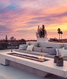 outdoor space | marble fire rooftop
