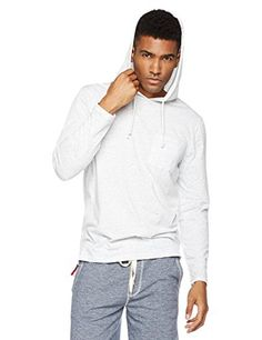 Young Men's Long Sleeve Lightweight Pullover Hoodie Top with Pocket