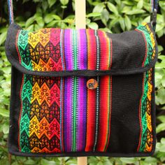 Manta Messenger Bag Made From Traditional Peruvian Vibrant Textile Handmade By