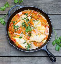 Fish in crazy water is the perfect weeknight dinner - 30 minutes, healthy and delicious. Try this great Neapolitan fish recipe from Panning The Globe.