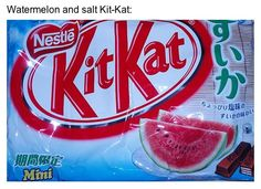 Japanese KitKat flavors.  Watermelon, really?!