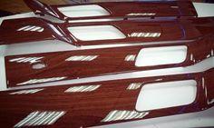 Hidroimpresion en Madera Acabado Brillo. Molduras interiores Range Rover Sport