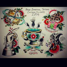 Harry Potter flash tattoo art by paigesandovaltattoos