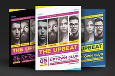 Upbeat Music Party Flyer @creativework247