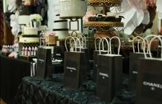 Coco Chanel inspired baby shower  | CatchMyParty.com