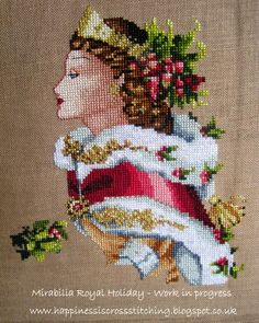Happiness is Cross Stitching -Mirabilia Royal Holiday