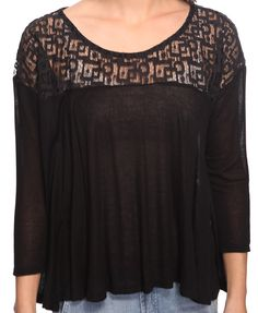 Geo Lace Yoke Top.