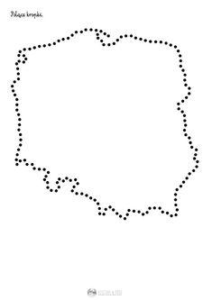 Kontur Polski - połącz kropki - karta pracy dla dzieci Diy And Crafts, Crafts For Kids, Arts And Crafts, Little Einsteins, Primary Teaching, Kids Hats, Educational Activities, Craft Patterns, Kids And Parenting