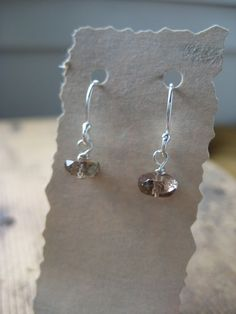 SALE Andalusite Sterling Silver Earrings by hoitytoitydesigns, $7.00