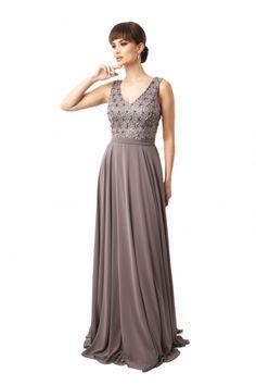 Rochie lunga de seara Lille Couture din dantela si voal Suzana, gri Bridesmaid Dresses, Prom Dresses, Formal Dresses, Wedding Dresses, Couture, Fashion, Bridesmade Dresses, Dresses For Formal, Bride Dresses